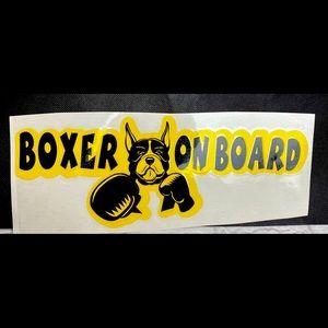 Boxer On Board Vinyl Car Decal Sticker